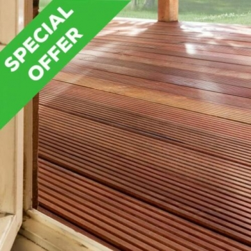 15 X Decking Boards 21mmx145mm X 3.6m Yellow Balau Hardwood