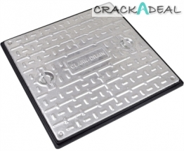 Clark Drain Manhole Cover And Frame Galvanised Steel Double Seal 600 X 600mm -10 Tonne - Pc7cg3