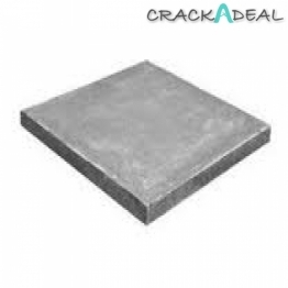 10 X Council Paving Slabs Flags Bss Pressed Natural Grey 600mm X 600mm X 50mm