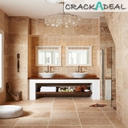 Travertine Linear Mosaic Tile