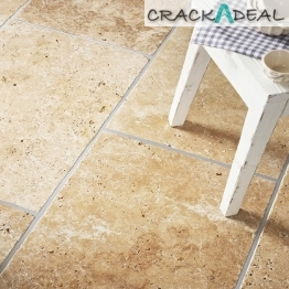 Tumbled Unfilled Travertine Tile