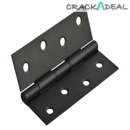 Forge Butt Hinge Black Powder Coated 75mm 3in Pack Of 2