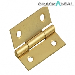 Forge Butt Hinge Brass Finish 40mm 1.5in Pack Of 2