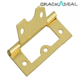 Forge Flush Hinge Brass Finish 60mm Pack Of 2