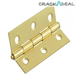 Forge Loose Pin Butt Hinge Brass Finish 75mm 3in Pack Of 2