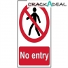 Scan No Entry - Pvc (200 X 300mm)