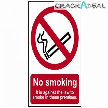 Scan No Smoking It Is Against The Law To Smoke On These Premises - Pvc (200 X 300mm)