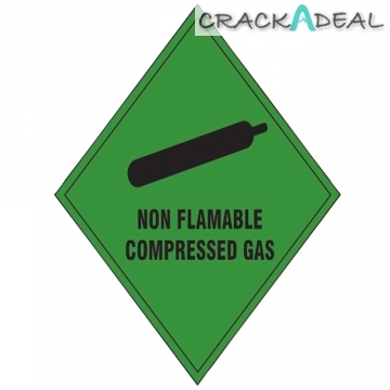 Scan Non Flammable Compressed Gas Sav - 100 X 100mm