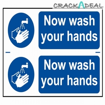 Scan Now Wash Your Hands - Pvc (300 X 200mm)