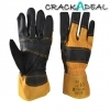 Scan Pack Of 3 Black And Yellow Furniture Leather Rigger Gloves