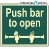 Scan Push Bar To Open - Photoluminescent (300 X 200mm)