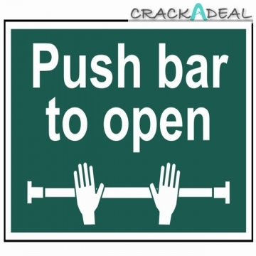 Scan Push Bar To Open - Pvc (300 X 200mm)