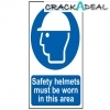 Scan Safety Helmets Must Be Worn In This Area - Pvc (400 X 600mm)