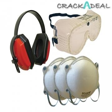 Scan Safety Kit - Goggles, Earmuff & Masks