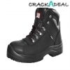Scan Serval Leather Ankle Boot Black Uk 11 Euro 45