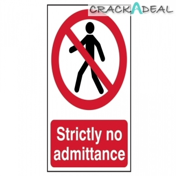 Scan Strictly No Admittance - Pvc (200 X 300mm)