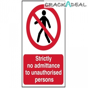 Scan Strictly No Admittance To Unauthorised Persons - Pvc (400 X 600mm)