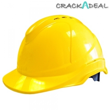 Scan Superior Safety Helmet Yellow Ratchet Adjustment