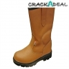 Scan Texas Dual Density Lined Rigger Boots Tan Uk 11 Euro 46
