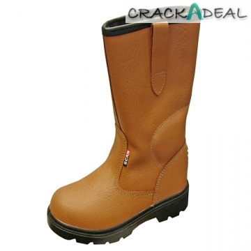Scan Texas Dual Density Lined Rigger Boots Tan Uk 6 Euro 39