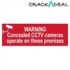Scan Warning Concealed Cctv Cameras Operate On These Premises - Pvc (200 X 50mm)
