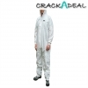 Scan White Large Chemical Splash Resistant Disposable Coverall