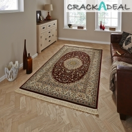 Regal 0227a Red Traditional Machine Made Rug - 100% Polypropylene