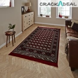 Regal 0636a Red Traditional Machine Made Rug - 100% Polypropylene