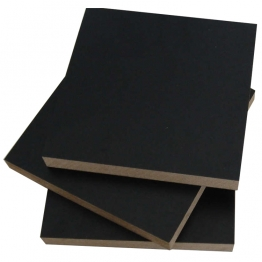 18mm Black Mdf Melamine Faced Moisture Resistant