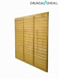 Trade Lap Fence Panel Dip Treated 1828mm X 915mm
