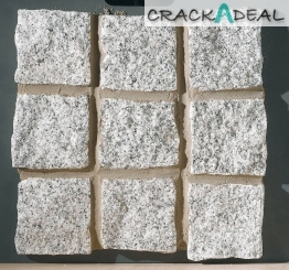 Marshalls Granite Cropped Cubes Silver Grey 100mm X 100mm X 100mm