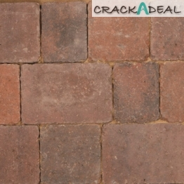 Bradstone Woburn Rumbled Concrete Block Paving Brindle 100x134x50mm