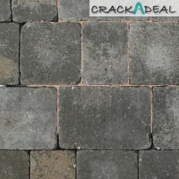 Charcon Woburn Concrete Block Paving Rumbled 134 X 134 X 60mm Medium Graphite Combined Sizes