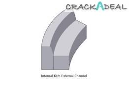 Concrete Kerb 125 X 255mm Half Battered Radius External 6m Bs7263.3