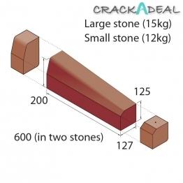 Marshalls Keykerb Klhb/ksbn Drop Crossing Kerb 2 Stones Rh Brindle