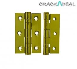 4trade Hinge 2 Ball Bearing Pvd Brass Plated Grade 7 75mm X 50mm X 2mm