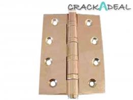 4trade Butt Hinge 4 Ball Bearing Polished Brass Pair 3mm X 100mm X 75mm