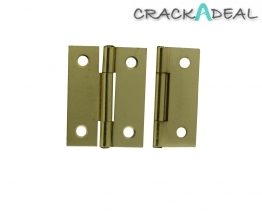 4trade Butt Hinges Electro Brass Fixed Pin 50mm (pack Of 2)