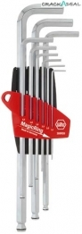 Ball Ended Hex Key Set With Magic Ring, 9 Pc
