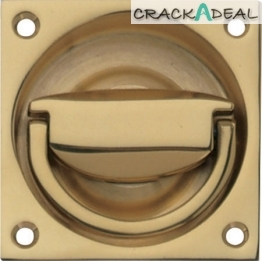 Flush Ring Pull Handle, To Operate, 75 X 75 Mm