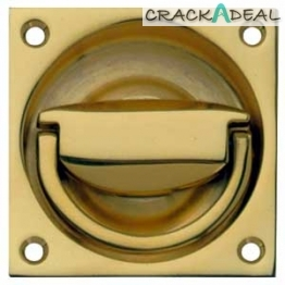 Flush Ring Pull Handle, To Operate, 65 X 65 Mm