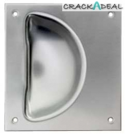 Flush Pull Handle, Stainless Steel