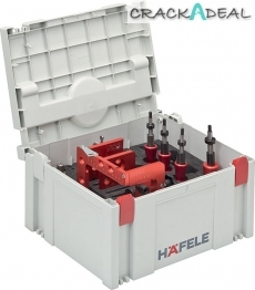 Red Jig Drilling Jig Set, For Minifix 15 Rta Connector