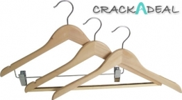 Hooked Hardwood Coat Hangers