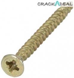 Spax Screws, Countersunk, ø 5.0 Mm, Zinc Yellow Passivated