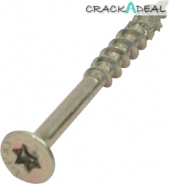 Spax Screws, Countersunk, ø 4.5 Mm, Zinc Yellow Passivated