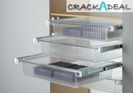Roomy Drawer Box With Full Extension Runners Set