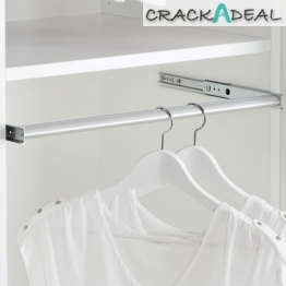 Pull-out Wardrobe Rail, Full Extension