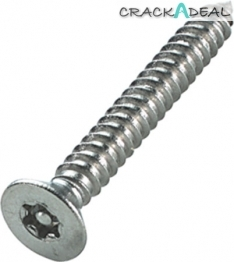 6-lobe/resistorex Security Screws, Countersunk, ø 2.9 Mm