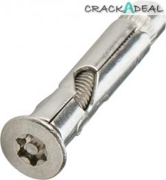 6-lobe/resistorex Security Sleeve Anchor, Countersunk